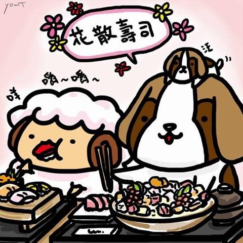 台湾台北风景漫画