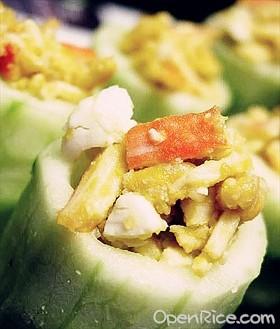 黃瓜蟹肉筒