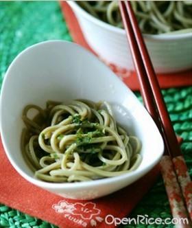 日式抹茶冷麵
