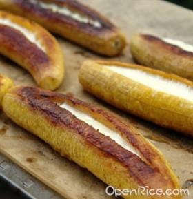 奶酪烤香蕉