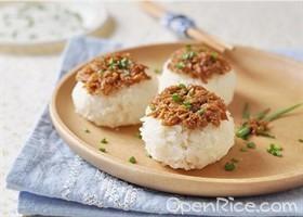 蔥香鮪魚飯團