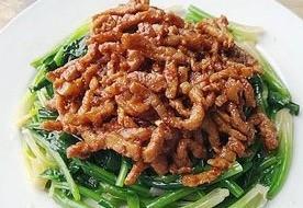 肉絲醬拌菠菜