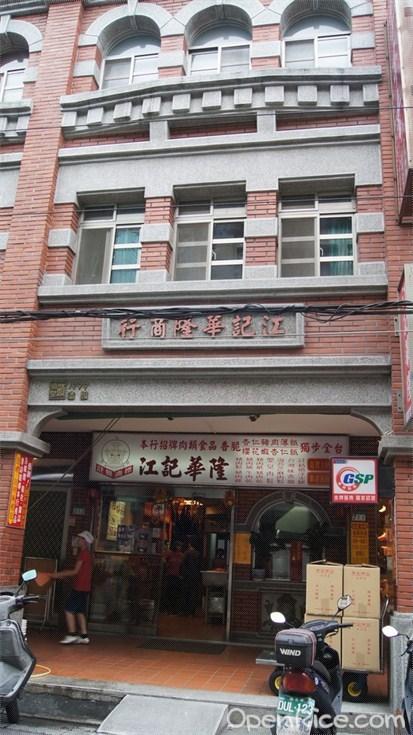 古典建築下的商店